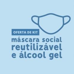 Kits com máscara social e álcool gel estão a ser oferecidos a seniores