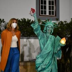 Estátuas vivas voltaram a animar Santa Cruz